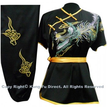 UC522 - Black Uniform with Phoenix Embroidery